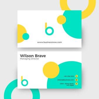 Design mínimo de cartão de visita
