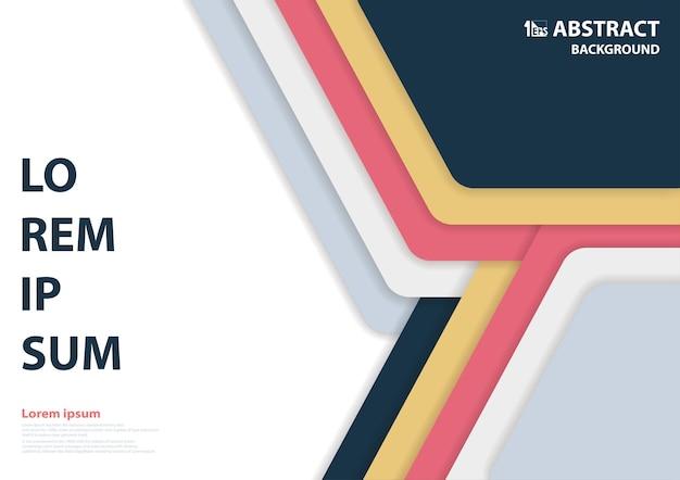 Design moderno abstrato de arte padrão hexagonal