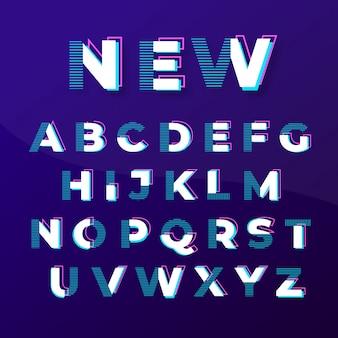 Design moderno abstrato de fontes elegantes