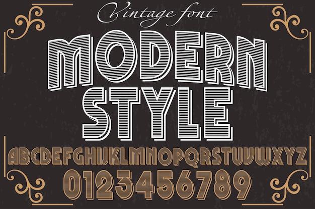 Design moderno alfabeto de fonte