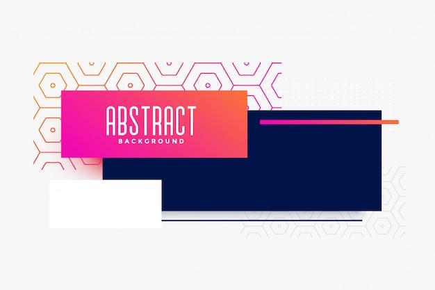 Design moderno banner colorido abstrato