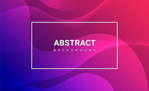 Design moderno banner ondulado colorido