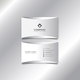 Design moderno cartão branco