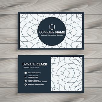 Design moderno cartão de visita com padrão abstrato