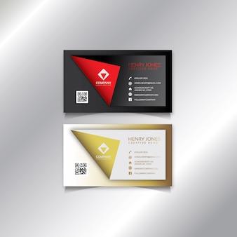 Design moderno cartão de visita.