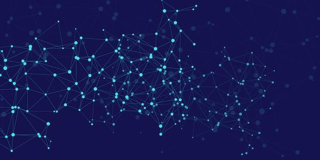 Design moderno com linhas e pontos de conexão