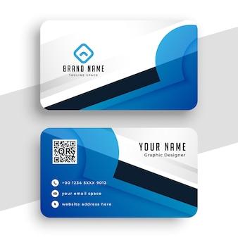 Design moderno criativo de cartão de visita azul