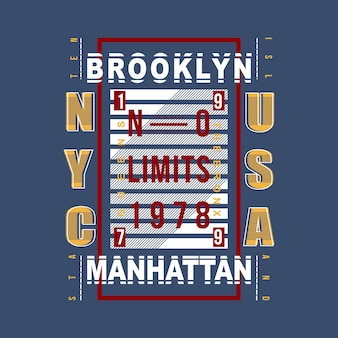 Design moderno da camisa do t do vintage brooklyn