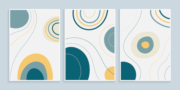 Design moderno da capa com formas orgânicas e linhas à mão livre
