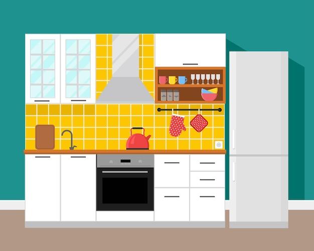 Design moderno de apartamento com cozinha