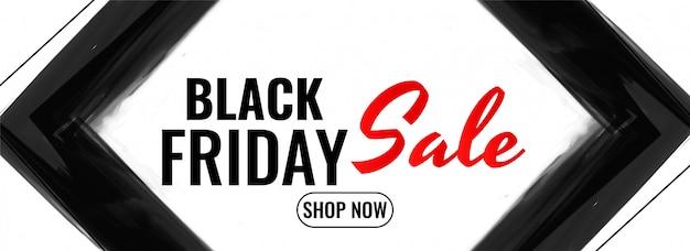 Design moderno de banner de promoção de venda sexta-feira negra