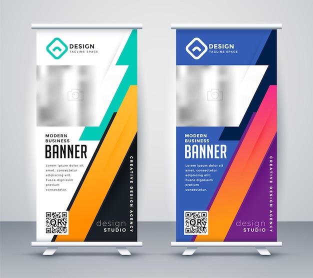 Design moderno de banner roll-up standee
