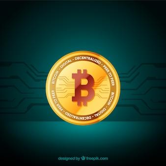Design moderno de bitcoin