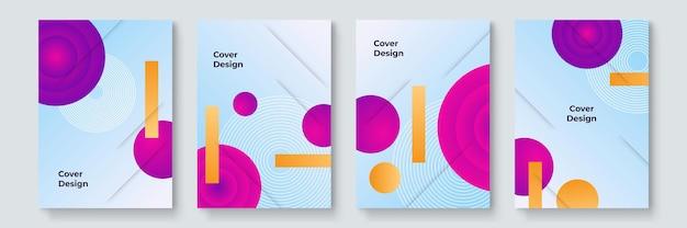 Design moderno de capas. modernismo colorido. composição mínima de formas geométricas. padrões futuristas. vetor em camadas de design de estilo bauhaus