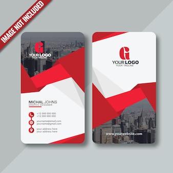 Design moderno de cartão de visita vertical