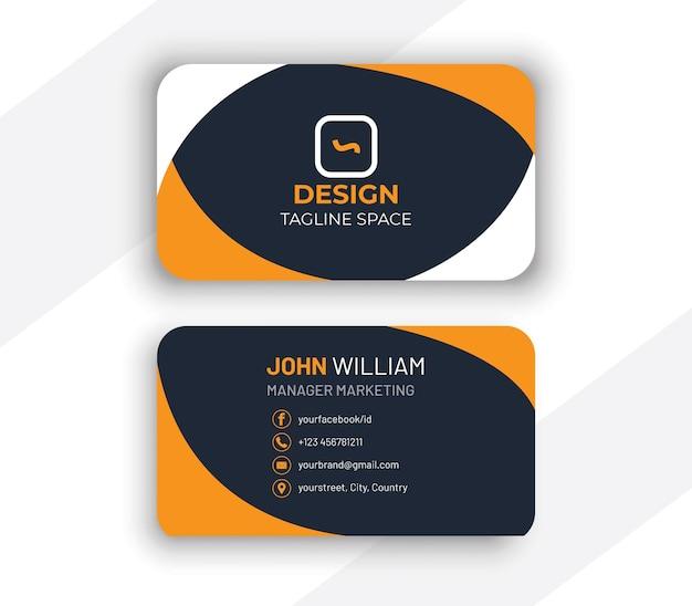 Design moderno de cartão de visita