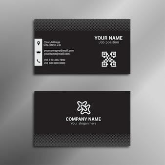 Design moderno de cartão preto