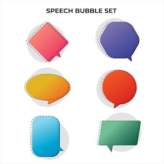 Design moderno de coleção de balões de fala