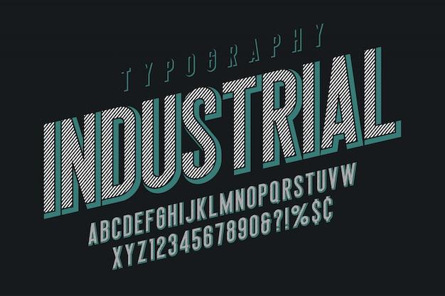 Design moderno de fonte de exibição vintage, alfabeto, tipo de letra