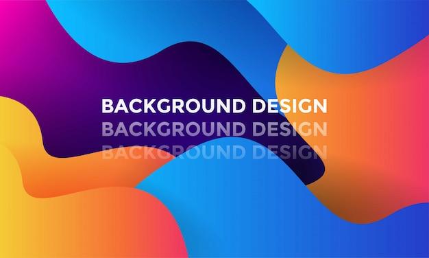 Design moderno de fundo gradiente de cor