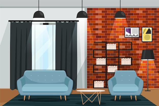 Design moderno de fundo interior de casa