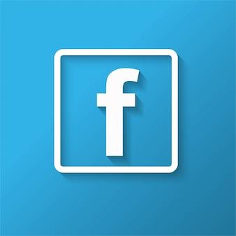 Design moderno de ícones do facebook