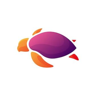 Design moderno de ilustração de tartaruga