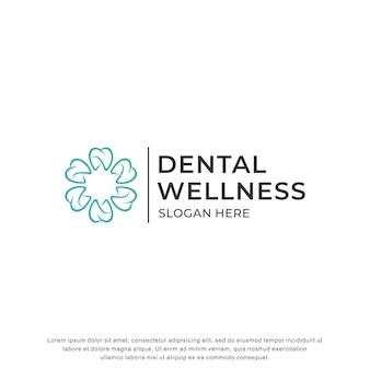 Design moderno de inspiração de logotipo dental