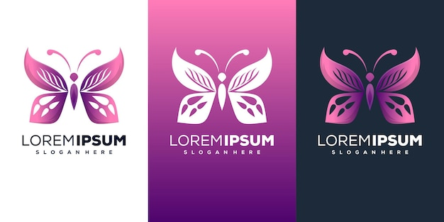 Design moderno de logotipo de borboleta