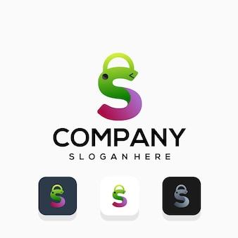 Design moderno de logotipo de loja de compras