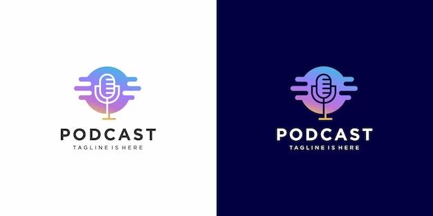 Design moderno de logotipo de podcast