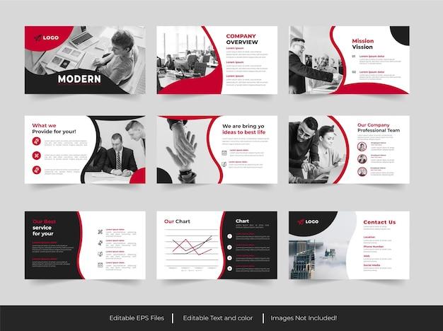 Design moderno de modelo de apresentação