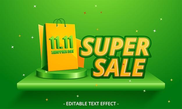 Design moderno de modelo de banner de super venda