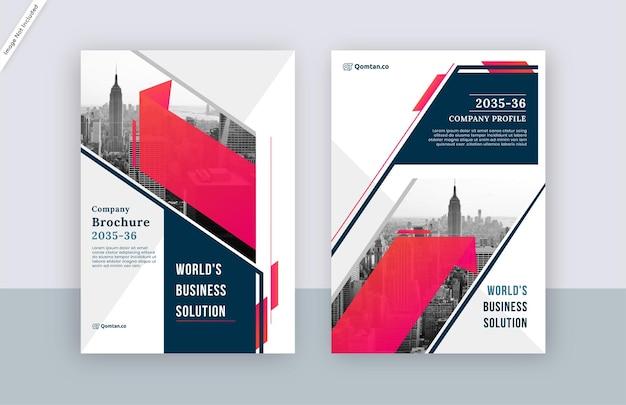 Design moderno de modelo de capa de folheto