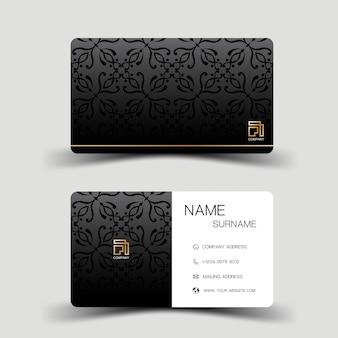 Design moderno de modelo de cartão de visita inspirado no abstrato cartão de contato para a empresa