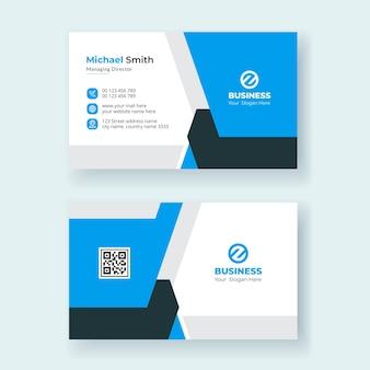 Design moderno de modelo de cartão de visita