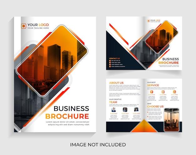 Design moderno de modelo de folheto de negócios de 04 páginas vetor premium