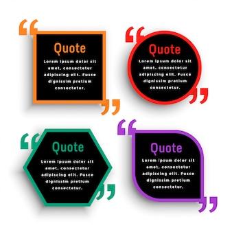 Design moderno de modelo de marca de citação em cor escura