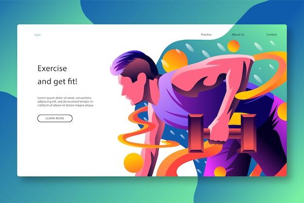 Design moderno de modelo de página de destino