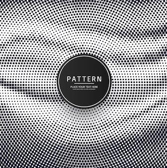 Design moderno de padrão de pontos de meio-tom