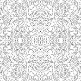 Design moderno de padrão floral decorativo étnico