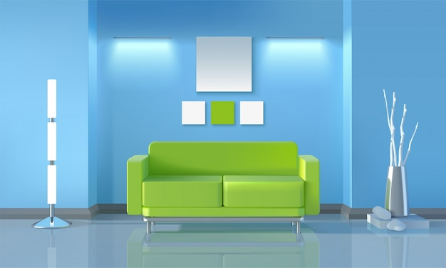Design moderno de sala de estar