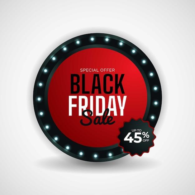 Design moderno de venda de sexta-feira negra em fundo branco.