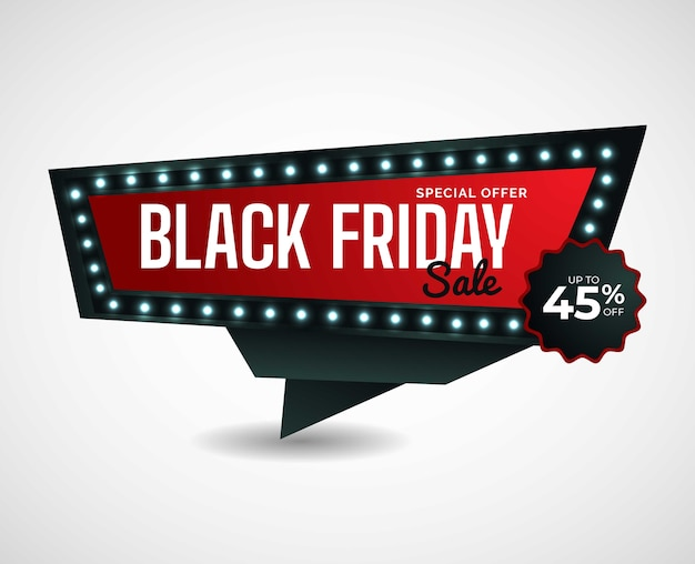 Design moderno de venda de sexta-feira negra.