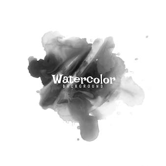 Design moderno de vetor preto aquarela