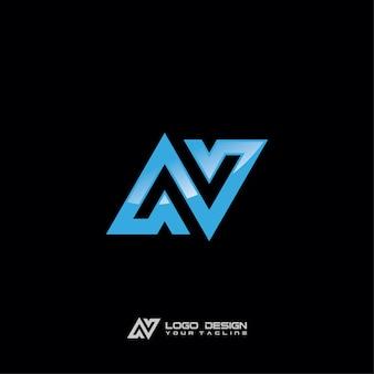 Design moderno do logotipo da empresa do símbolo de n