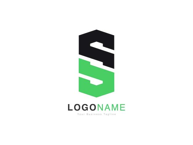 Design moderno do logotipo da letra inicial do so e so