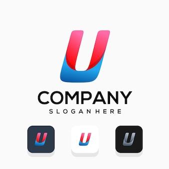 Design moderno do logotipo da letra u