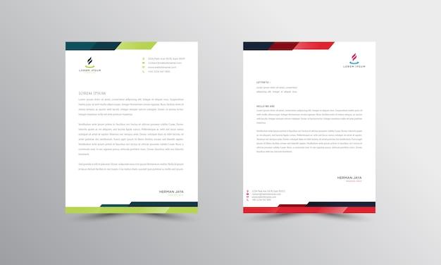 Design moderno do papel timbrado de abtract papel timbrado