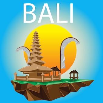 Design moderno e estilo de bali temple